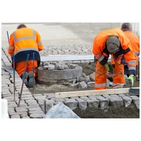 Herstellen von Pflasterbelägen im Straßenbau nach aktuellem Stand der Technik