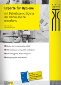 Experte für Hygiene mit Betriebsbesichtigung der Reinräume bei microParts