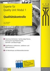 Experte für Quality Unit: Qualitätskontrolle Modul 1